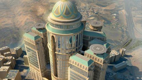 Zehn Türme, 10.000 Zimmer: Das größte Hotel der Welt entsteht in Mekka