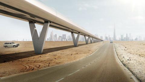 So soll der Hyperloop in Dubai aussehen