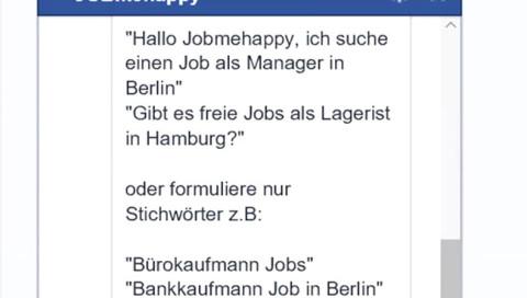 Dieser Messenger-Bot findet einen Job für euch