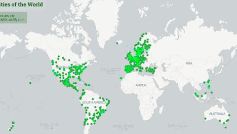 Musical Map: Spotify veröffentlicht interaktive Sound-Landkarte