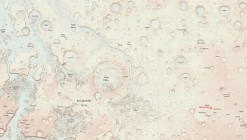 So sieht der Mars als traditionelle Landkarte aus