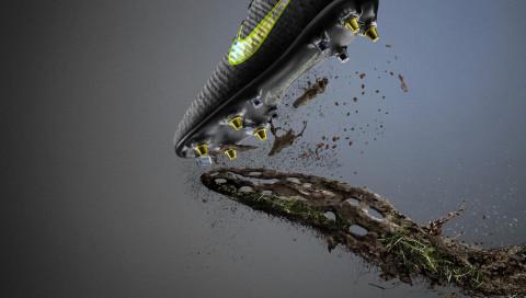 An den neuen Nike-Fußballschuhen soll kein Matsch mehr hängenbleiben