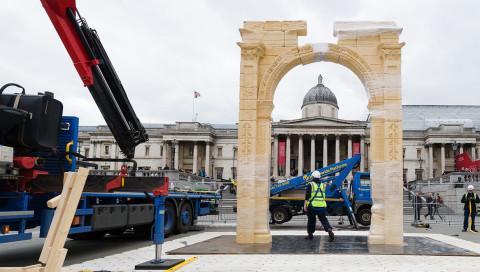 Dieser Nachbau von Palmyras Triumphbogen in London entstand per 3D-Scanner