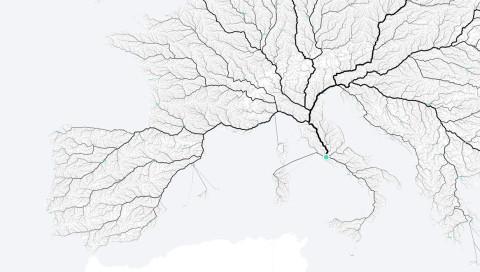 Auf dieser Karte führen (fast) alle Wege nach Rom