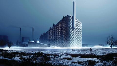 Ein Kraftwerkschornstein zeigt bald den CO2-Verbrauch von Kopenhagen an