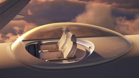 Durch diese Glaskuppel können Superreiche aus Flugzeugen schauen