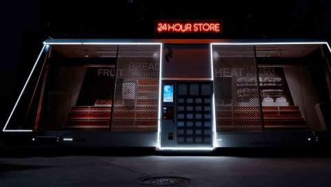 In Shanghai fährt ein autonomer Supermarkt durch die Straßen