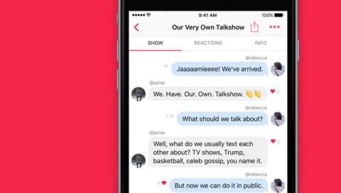 Die App Talkshow lässt andere in eure Chats gucken