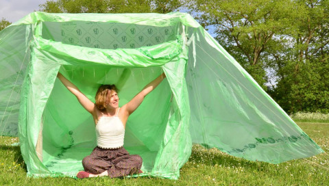 Problem Solver / Das kompostierbare Festival-Zelt