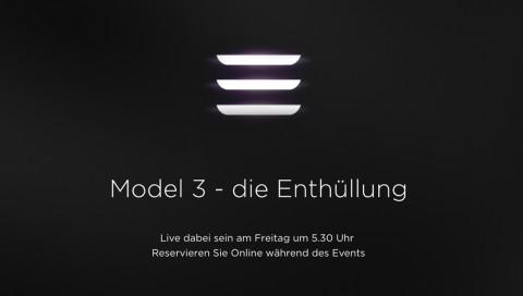 Nicht nur für Tesla-Fans: Präsentation des Model 3 im Livestream (ab 5:30 Uhr)