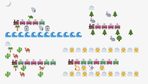 Dieser Twitter-Bot baut Eisenbahn-Landschaften aus Emojis