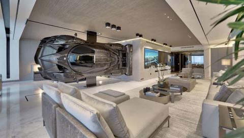 Luxus pur: Ein Hypercar als Raumteiler