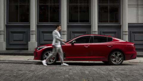 Street Style in Perfektion: der neue Kia Stinger