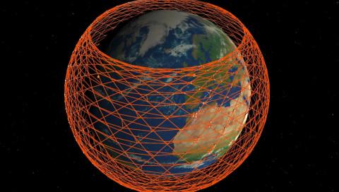 Diese Simulation zeigt, wie das SpaceX-Satelliten-Internet funktionieren könnte