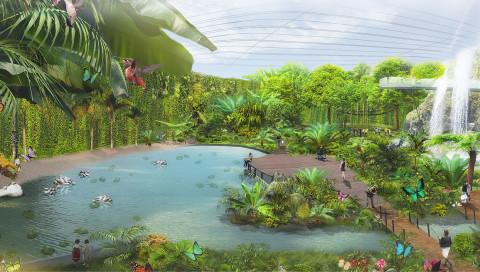 Was das größte Biodome der Welt mit der Allianz Arena gemein hat