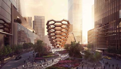 Diese wabenförmige Riesentreppe entsteht mitten in Manhattan