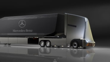 Der Mercedes-E-Truck könnte fünf Tage lang durchhalten