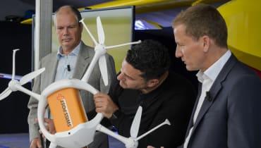 In der Schweiz vernetzen Drohnen Krankenhäuser und Labors
