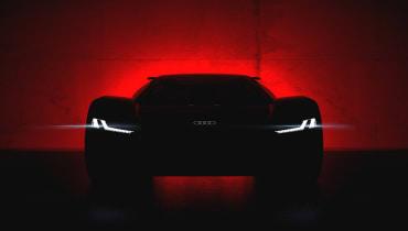 Audi präsentiert bald seinen elektrischen Supersportwagen PB18 e-tron