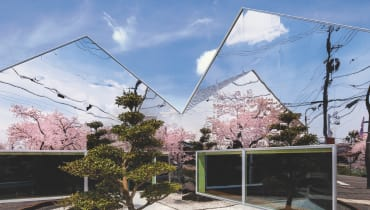 Der Architekt Hisanori Ban macht eine Straße zum Spiegelkabinett