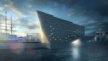 Ein Klippenschiff wird Schottlands neues Designmuseum