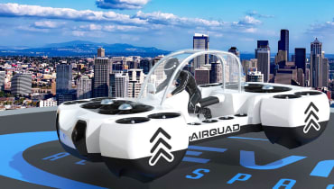 Das AirQuadOne soll mit bis zu 80 km/h fliegen können