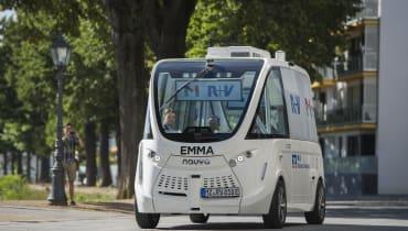 In Mainz könnt ihr jetzt mit einem autonomen Elektrobus fahren