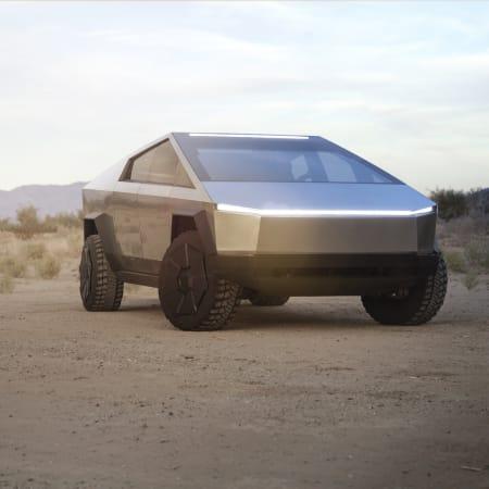 Autos : Tesla stellt Elektro-Pick-up vor: So futuristisch und robust ist der Cybertruck