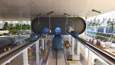 Die Designer des Apple-UFOs arbeiten an einem Bahnhof für den Hyperloop