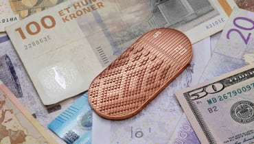 Dieser Geldbeutel soll digitales Guthaben greifbar machen