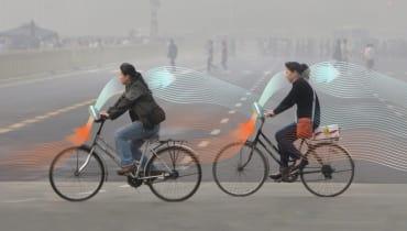 Diese Fahrräder sollen die Luft von Smog säubern