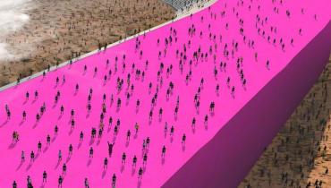 So würde Trumps Mexiko-Mauer in Pink aussehen