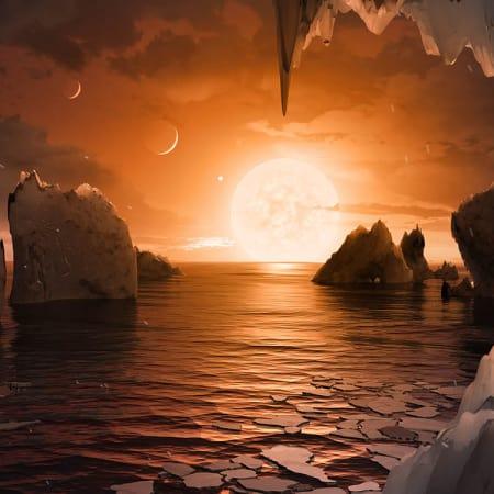 Bedeuten sieben erdähnliche Planeten auch siebenmal neues Leben?