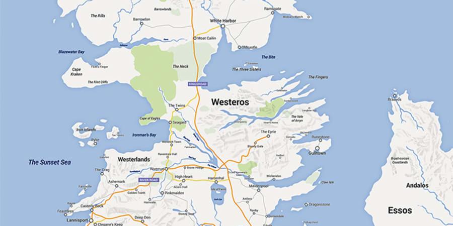 """Ein """"Game of Thrones""""-Fan hat Westeros auf Google Maps ...  Ein """"Game of ..."""