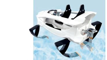 Strom Ahoi: Das E-Tragflügelboot Quadrofoil fliegt durchs Wasser