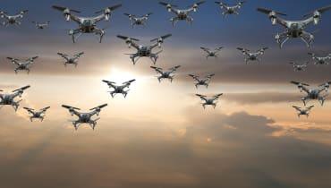 Statt mit Batterien können Drohnen mit Diamanten und Laser angetrieben werden