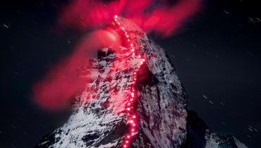 Eine Lichterkette für das Matterhorn