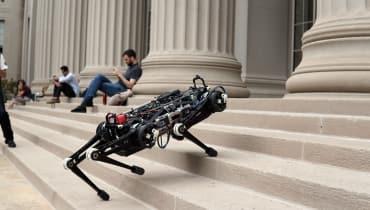 Obwohl er nichts sieht, kann der MIT-Roboter Cheetah 3 Treppen steigen