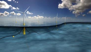 Diese 175 Meter hohen Windtürme schwimmen vor Schottland