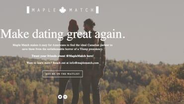Diese Dating-Site soll Trump-Flüchtlinge mit Kanadiern verkuppeln