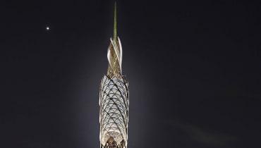 Ein Holzturm soll das Schmutzwasser im Central Park aufbereiten
