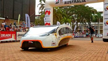 Solarauto Stella Vie rast erfolgreich durch Australien