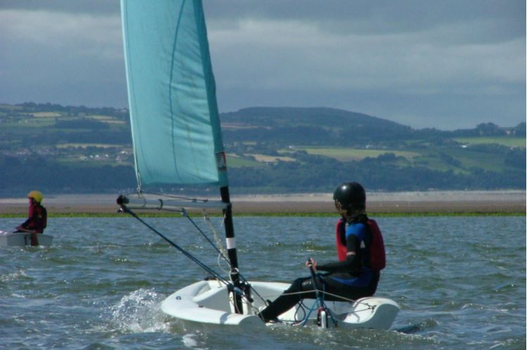 Dinghy sailing on West Kirby Marine Lake