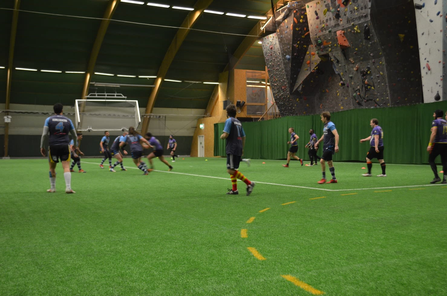 Action shot from the Skane Rugby League 9's held in Malmo in February 2020