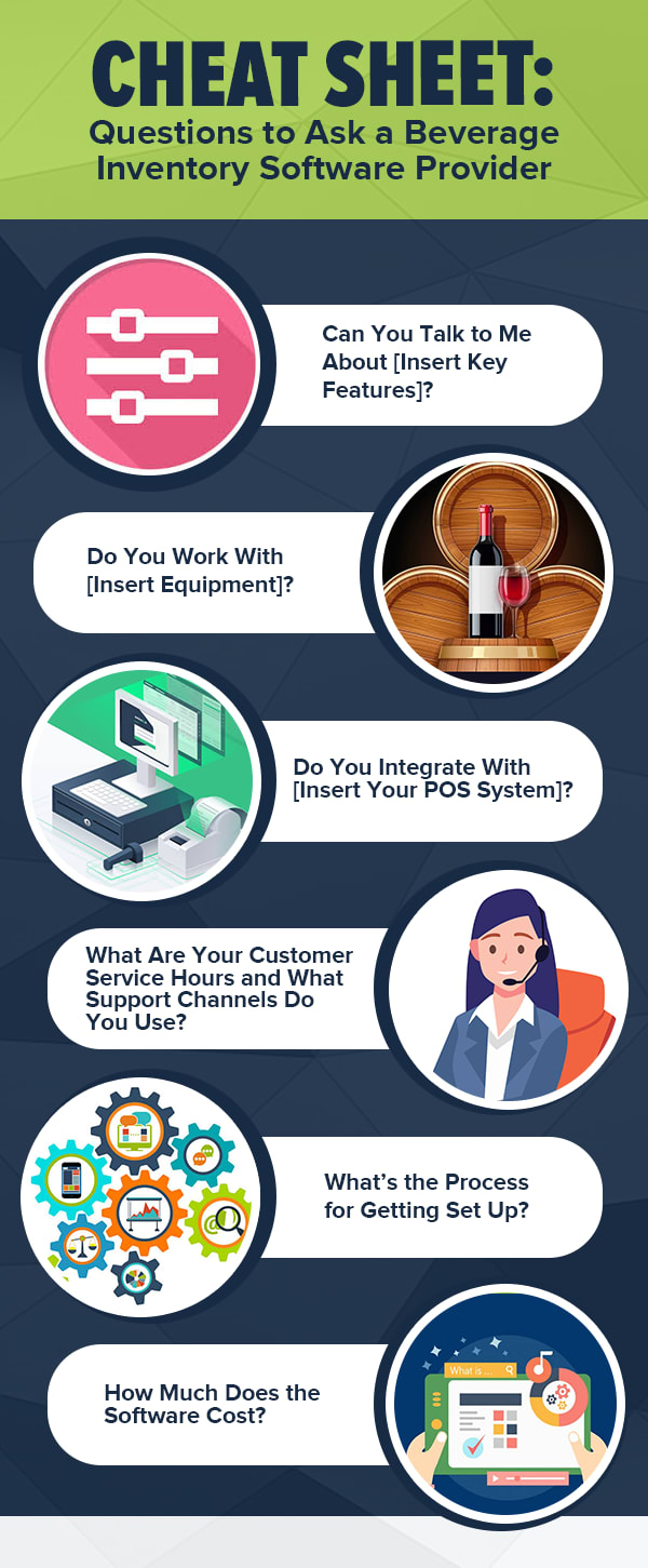 infographic, cheat sheet, beverage inventory software