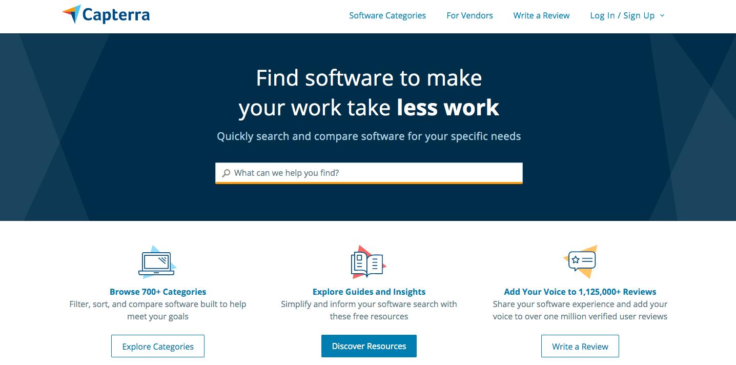 capterra, website, screenshot