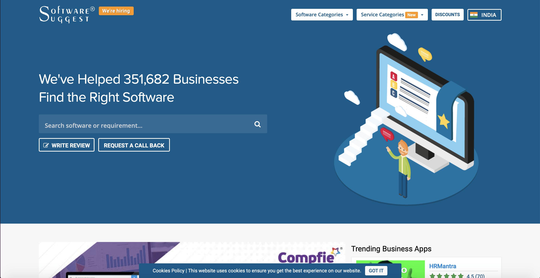 softwaresuggest, website, screenshot