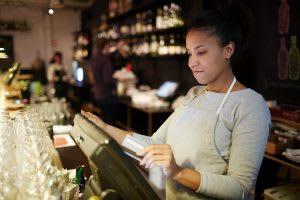 woman, bar, glasses, beverage inventory management, pos, wisk