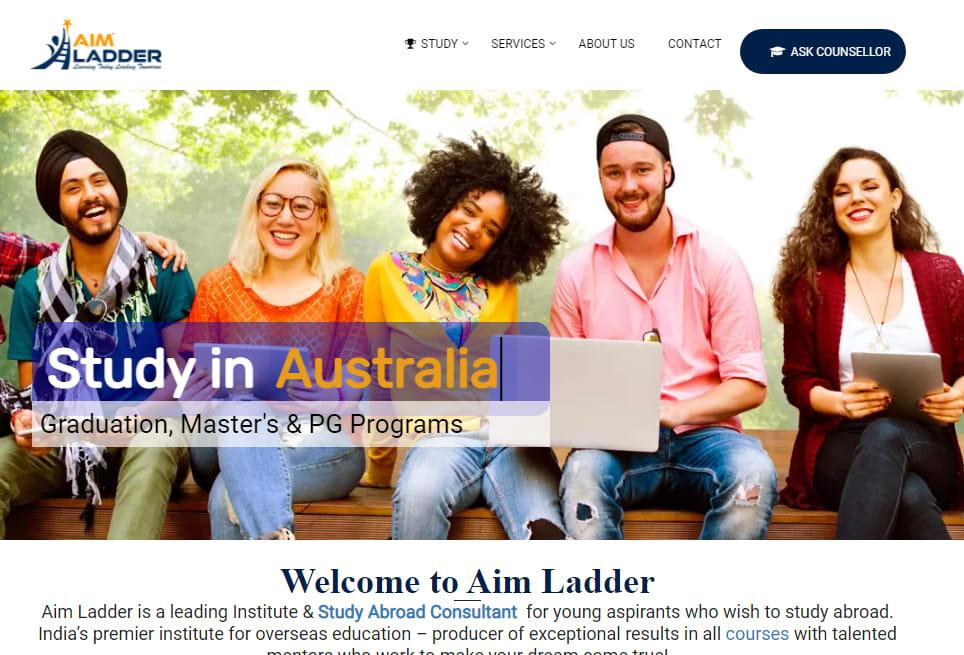 Aim Ladder website design by Govind Singh