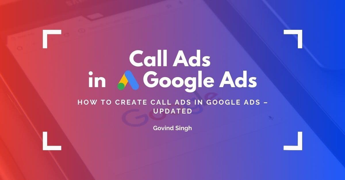 Call Ads In Google Ads